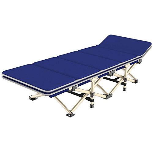 Tägliche Ausrüstung Klappbett Klappbett Gäste-Einzelbetten mit Matratzen Klappbarer Loungesessel mit Verstellbarer Rückenlehne Einfache Aufbewahrung (Farbe: Grau Größe: 1906735cm)