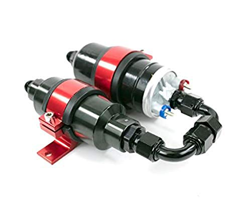 A-Team Performance Two in One Electric Fuel Pump and Inline Filter Kit with Mounting Bracket
