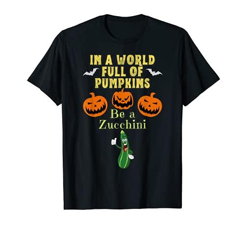 En un mundo lleno de calabazas S un calabacn un divertido Halloween Camiseta