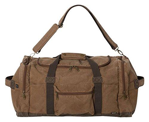 DRI DUCK Expedition 25' Concrete Canvas Duffel Bag / 60L Travel Duffel Bag (Khaki)