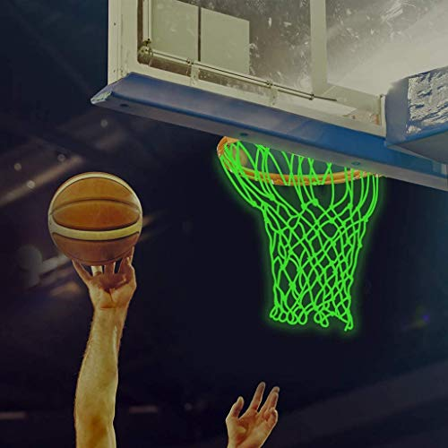 Jesaisque Basketball Net Luminous Outdoor Glow in The Dark Portable...