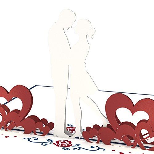 Lovepop Couple in Love Pop Up Card - 3D Card, Valentine's Day Card, Romance Card, Couple Card, Wedding Card