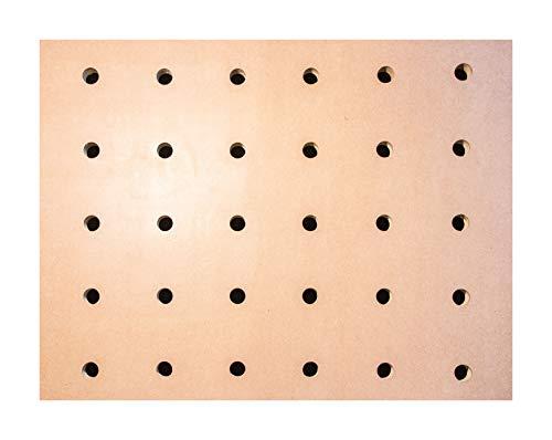 Lochrasterplatte Werkbank Lochplatte Multifunktionstisch Arbeitstisch MDF Rasterplatte Aufspannplatte Universaltisch (100 x 60 cm | 54 Löcher)