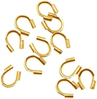 Beadaholique JW408/G 50-Piece Wire and Thread Protectors, 0.019-Inch, 22K Gold