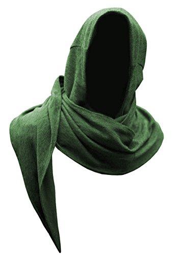 Epic Armoury 30013000 Kopfhaube, Unisex Adult, Dryad Green, Einheitsgröße