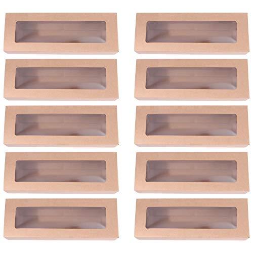 Angoily Cajas de Macarrón 10 Piezas Cajas de Panadería de