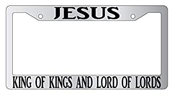 DKISEE Jesus King of Kings and Lord of Lords Aluminum License Plate Frame 12x6 Inch Car Frame with 2 Holes
