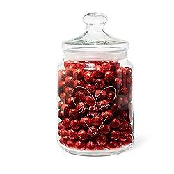 Geschenke.de Personalisierbares Keksglas mit Gravur und Herz-Motiv - als Partner Geschenk für Frauen, Liebesgeschenk Freundin oder Geschenk für Männer und kreatives Geldgeschenk zur Hochzeit
