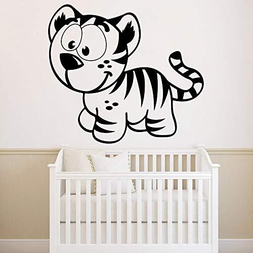 BailongXiao Nuevo diseño Lindo Tigre decoración del hogar decoración del Dormitorio Accesorios Impermeable Arte de la Pared calcomanía 28x31cm