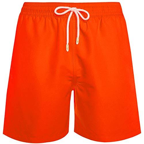 Bañador para Hombre, Piscina. Bermudas Color: Naranja, Talla XL (Medidas: 37,5 x 38,5cm). con Forro y Cordones. con Goma elástica. Secado rápido 100% Poliester. 2 Bolsillos Laterales y uno Trasero.