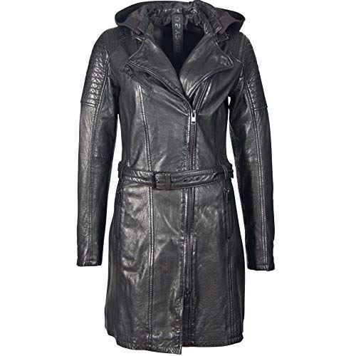 Gipsy Damen Kurz-Leder-Mantel G2GSonnya SF LATEV, Black (XL)