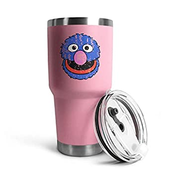 Sesame Street Grover Distressed 30OZ Stainless Steel Vacuum Insulated Cup,reusable Simple for Wine Tumbler with Lid Master Cup