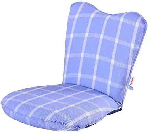 XFSE Silla de juegos de compra plegable de suelo perezoso ajustable, sofá tumbona cama acolchada silla de juegos con reposabrazos y almohada para sala de estar, juegos de lectura.