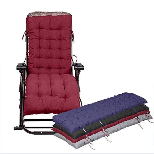 Xin Hai Yuan Solid Long Cushion Mat for Recliner Rocking Rattan Chair Folding Thick Garden Sun Lounge Seat Cushion Sofa Tatami Mat No Chair,Red