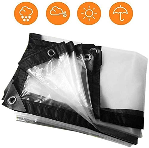 Awning Canvas Waterproof Patio Transparent Waterproof Fabric Cover Thickening Car Aluminum Buckle Polyethylene (Size : 1x1m)