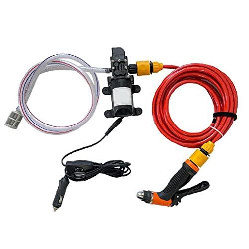 Sanfiyya Lavadora de Coches Kit de Bomba 12V Limpiador de Alta presión portátil eléctrico para electrodomésticos de Cuidado de automóviles
