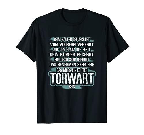 Herren T-Shirt Torwart - Fußball Handball Torhüter Tor Witz Spruch T-Shirt
