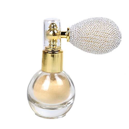 shentaotao Proyección De Polvo del Brillo del Reflejo Aclaran Aroma Highlighter del Maquillaje del Pigmento del Maquillaje En Polvo para La Cara Cuerpo -Marfil Pelo Blanco Y Cuidado