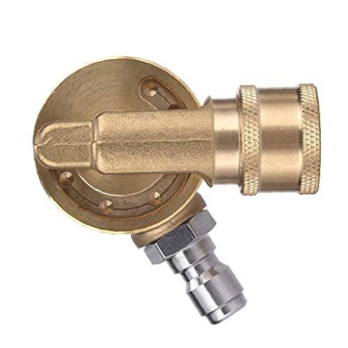 Pivotante acoplador Lavadora latón Conector con 1/4 pulgada rápida de conexión para limpieza en zonas de difícil acceso amarillo