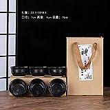 Ksnrang Horno de té de cerámica Horno de Regalo Monocker Productos de Horno Taza Taza Propietario de la casa Publicidad Igogo Personalizada - Cajas de Regalo de Cielo Negro 6