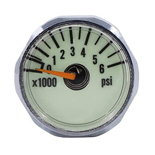 Creely Nuevo medidor de presión de botella de buceo 1 pulgada cara 350 bar/5000 PSI 7/16 pulgadas - 20UNF hilos