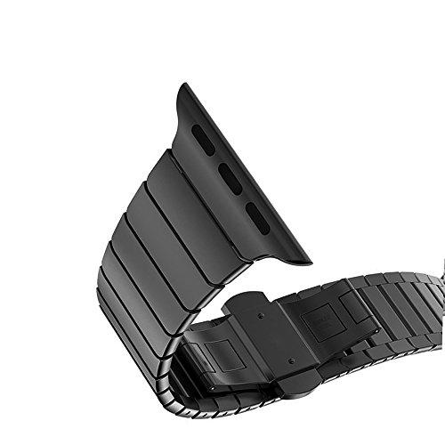 Sulla Acero Inoxidable Correa Compatible Apple Watch Serie 1 , 2 , 3 , 4, Apple Watch Correa 38mm 42mm, Plata 38mm