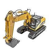 IIIL Tractor Construcción Excavadora RC Funcional 15 Canales, Teledirigida Escala 1:14 Camión Rango Movimiento Tractor 680 ° 2.4G