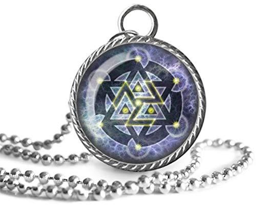 Collar Antahkarana, colgante de chakra, tibetano, símbolo de curación de Reiki