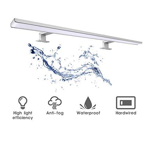 Wilktop LED Spiegelleuchte 80cm Warmweiß Schminklicht Led Badleuchte Schrank-Beleuchtung Verchromt 850LM 13W LED Wandleuchte IP44 Schutzklasse 80*SMD2835 CRI>80 [Energieklasse A+]