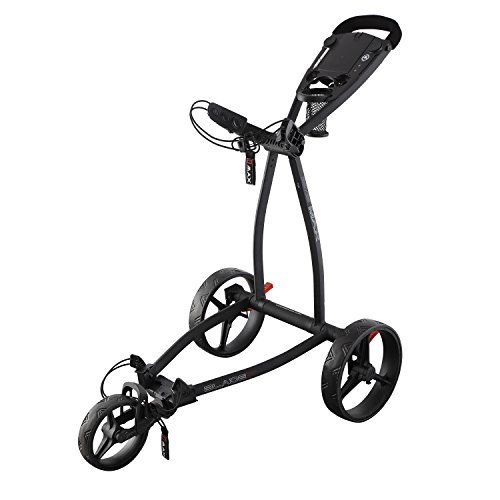 Big Max Blade IP - 3 Rad Golftrolley Faltbar Ultraflach & Robust (Phantom Black)