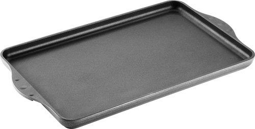 Titanium Nowo Guss-Grillplatte/Teppan-Yaki-Platte, 43 x 28 cm, 2cm hoch, 2 eingegossene Seitengriffe