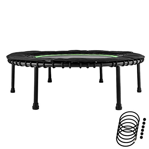 """Popsport 40"""" Fitness Trampoline 330lbs Holding Capacity Portable Exercise Trampoline with Latex Rubber Bungees Elastic Jump Mat Bungee Rebounder Mini Trampoline"""