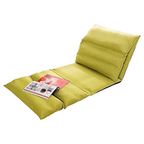WALNUT Silla de Piso Acolchada con Respaldo Ajustable Cómodo, Semi Plegable y versátil for seminarios Lectura de TV o Juegos Diseño Elegante (Color : Green)