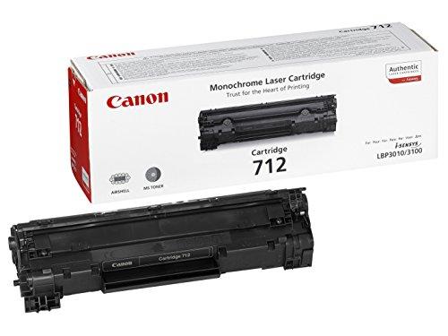 Canon cartucho 712 de tóner original negro para impresoras láser i-SENSYS LBP3010, LBP3010B, LBP3100