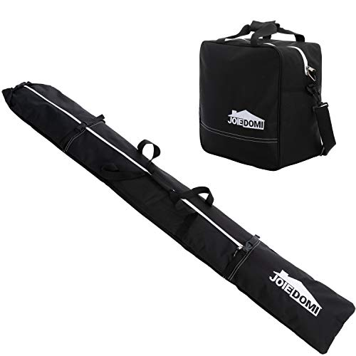 Ski Bag and Boot Bag Combo, Skiing Storage Bag, Fits up to 79 inches skies and Size 13 Boots, with Carry Handles & Dual Zippered Closure for Snow Travel Gear Ski Equipment Storage & Transportation