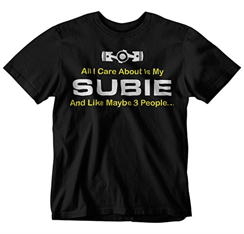 All I Care About is My Subie T-Shirt (X-Large) Black