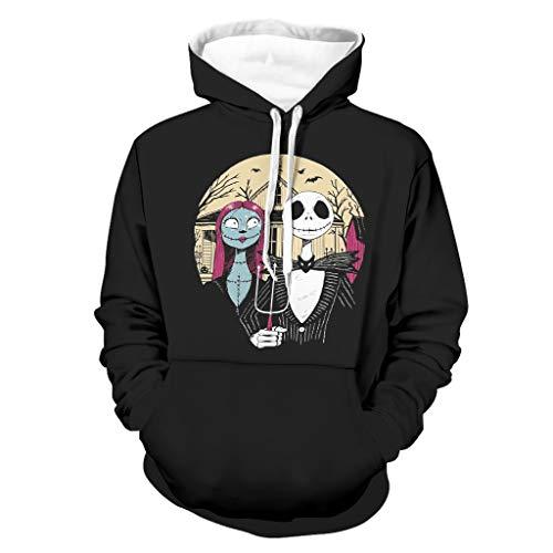 Nightmare Gothic - Sudadera de manga larga para hombre con capucha y capucha unisex con bolsillos con cordón
