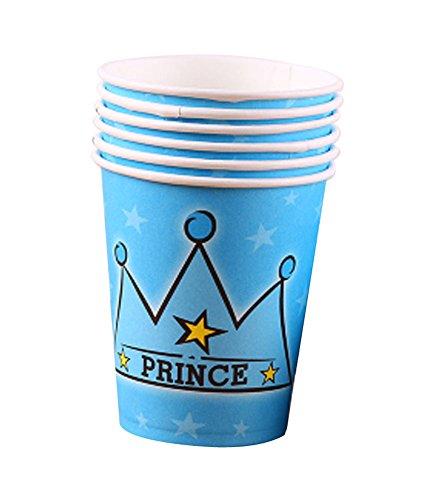 Satz von 10 Prince-Party Pappbecher Trinkbecher
