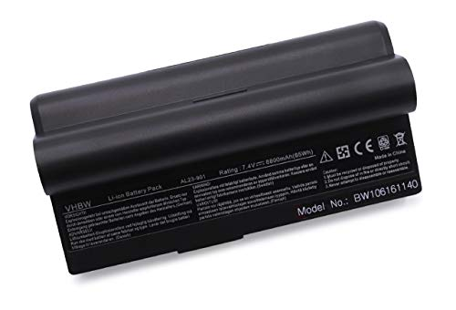 vhbw Akku passend für Asus Eee PC 901, 901 Go, 904, 904HD, 1000, 1000H, 1000H Go, 1000HA, 1000HD, 1000HE, 1000HG Notebook Laptop - (Li-Ion, 8800mAh)