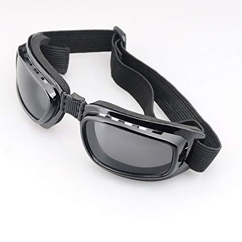 bansd Gafas Moto Polarizadas Día Noche Ciclismo Gafas de Sol Patillas Gafas Montura Negra Lente Gris