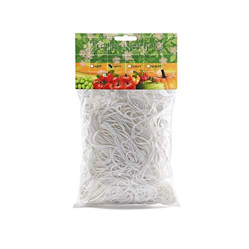 XunHe Ranknetz für Kletterpflanzen, Gartennetz, Pflanzenstütze, Wachstumszelt, Rankennetz, Rankenetz, Blume, Garten, Gemüse, Polyester-Netz (1,67 x 5 m)