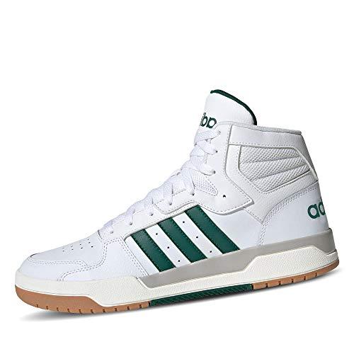 adidas ENTRAP Mid, Scarpe da Basket Uomo, Ftwr White/Collegiate Green/Grey Two f17, 45 1/3 EU