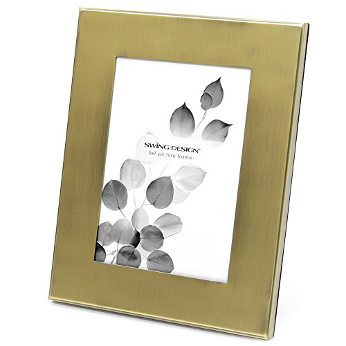 Swing Motif Empire Cadre Photo, French Gold, 5 by 7-inch