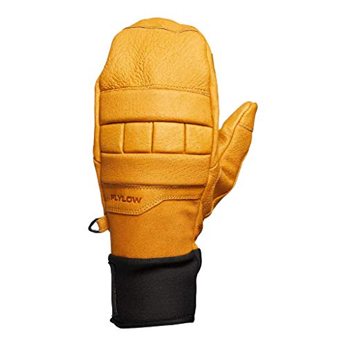 Flylow Leather Ski and Snowboarding Smitty Mittens (Natural, M)