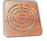 Castelmerlino Tarima para ducha en madera contrachapada marina Okumè 50x50 cm para platos de ducha 70x70 cm