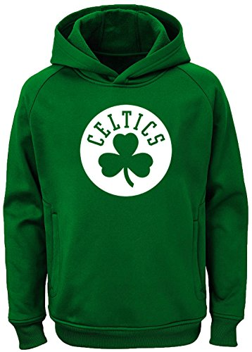 Outerstuff NBA Youth Team Color Performance Primary Logo Pullover Sweatshirt Hoodie (Large 14/16, Boston Celtics)