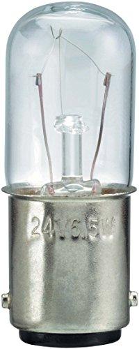 Schneider DL1BLM Glühlampe für Befehls- und Meldegeräte, BA 15d, 10 W, 230 V, Transparent