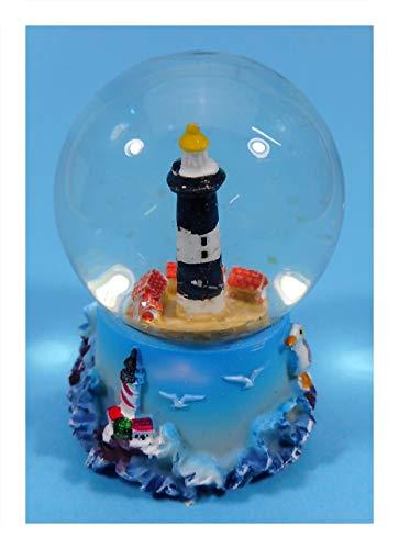 Cor Schüttelkugel Leuchtturm 6,5 x 5 cm Schneekugel Maritim Deko 9091 B