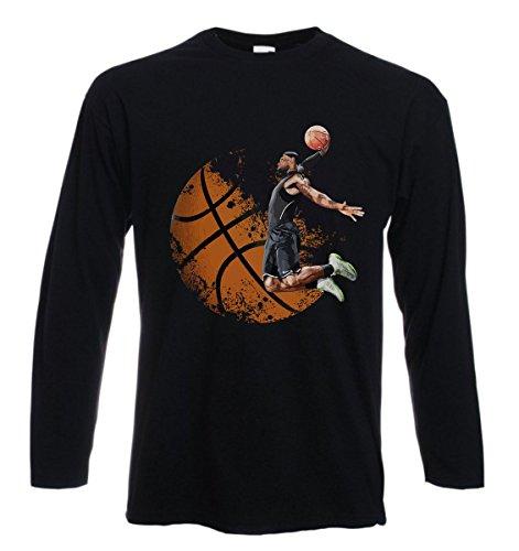 t-Shirt Manica Lunga Basket, Pallacanestro, canestro, Sport, Allenamento - S M L XL XXL Uomo Donna Bambino Maglietta by tshirteria
