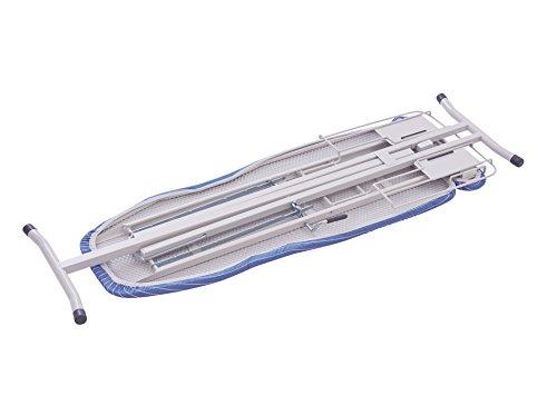 天馬(Tenma)多機能アイロン台ストライプブルー幅124×奥行38×高さ24/40-85cmPORISHアルミコートアイロン台スタンド式PI-02